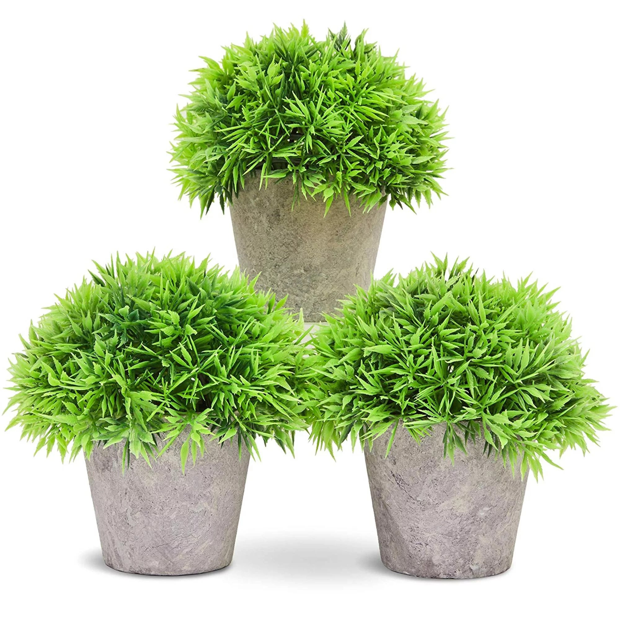 Fake Plant Decoration Set Of 3 Potted Artificial House Plants Fake Plant Decor Green Decorative Small Artificial Plants For Home Decorindoor With White Paper Pulp Pots 5 X 4 2 X 5 Inches Walmart Canada