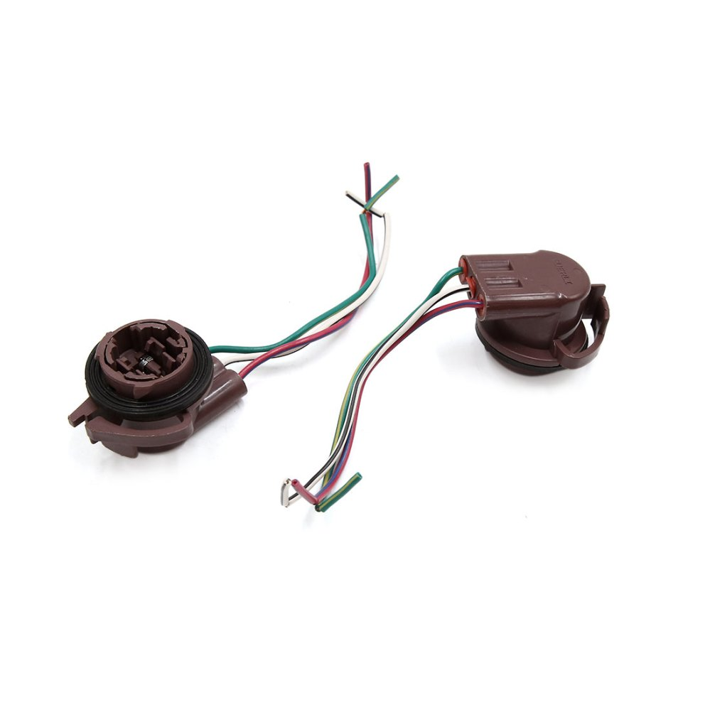 medium resolution of 5pcs 3157 3 wires car turn signal light lamp bulb wired harness socket connector