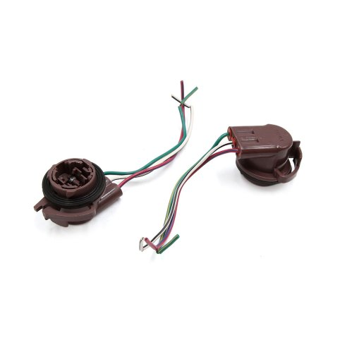 small resolution of 5pcs 3157 3 wires car turn signal light lamp bulb wired harness socket connector