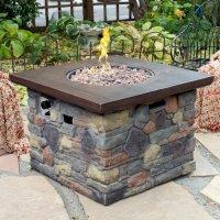 Red Ember Galiano Propane Fire Pit Table - Walmart.com