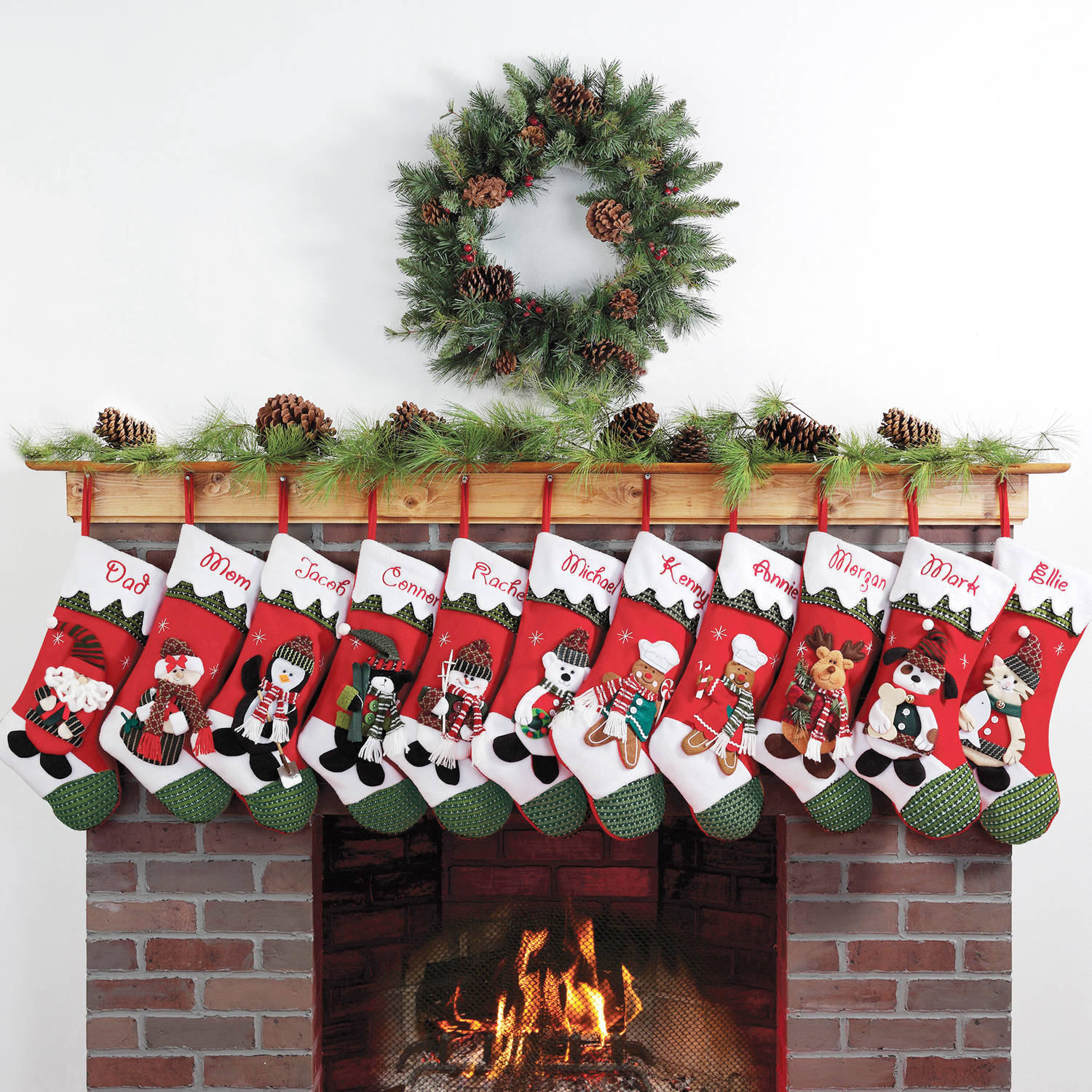 Personalized Snow Cap Christmas Stocking Available In 11