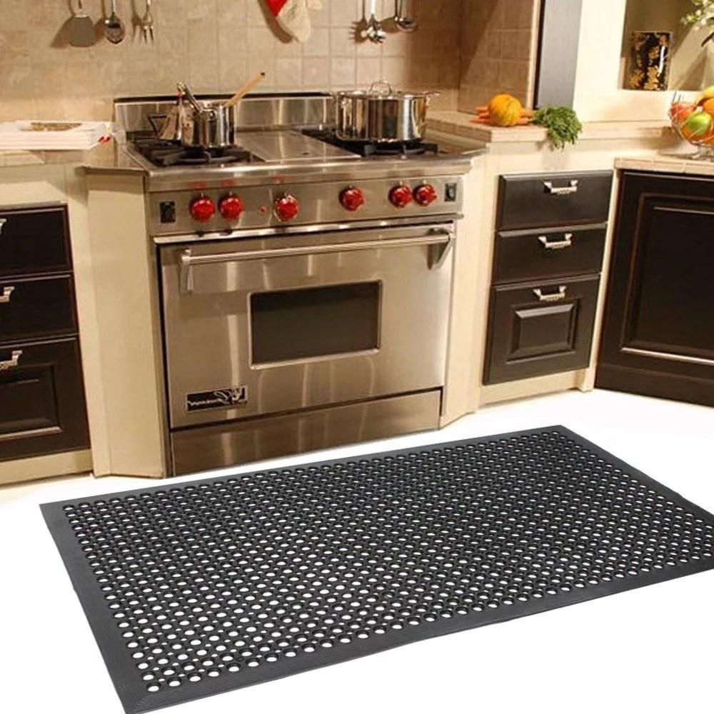 kitchen floor mats kitchens for sale zimtown 1 2 x 36 60 mat bathroom garage heavy duty standing ergonomic non toxic waterproof slip washable walmart com