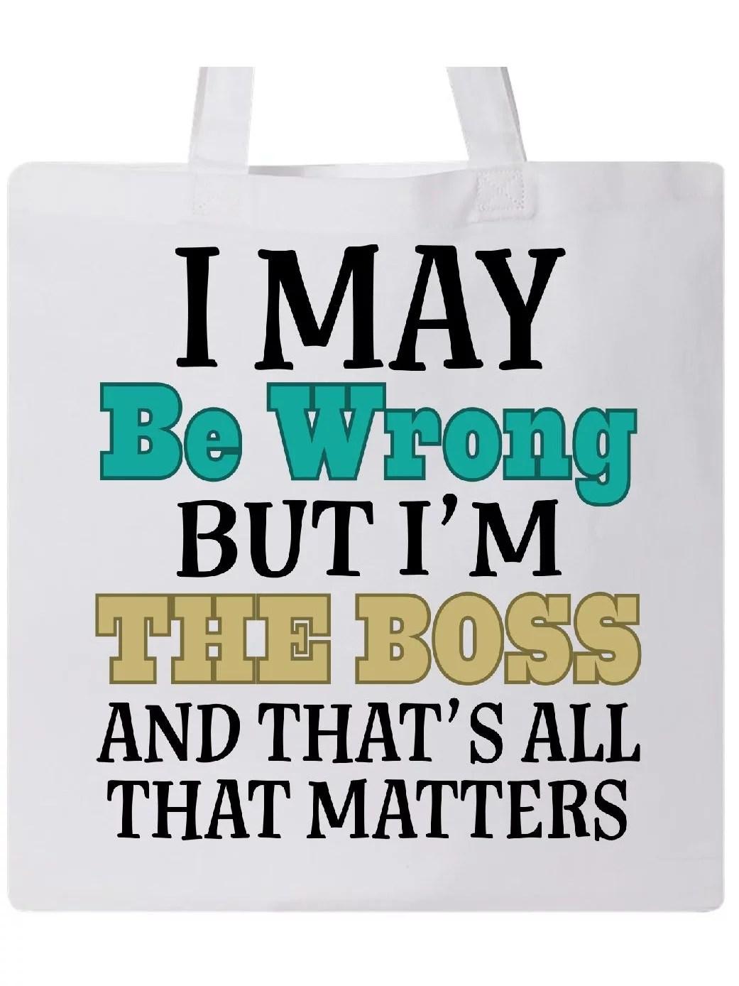 Funny Gift For Boss Tote Bag Walmart