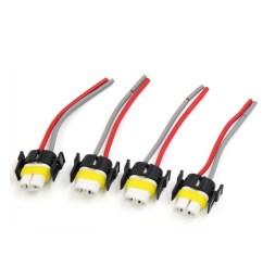 4pcs h11 female ceramics adapter wiring harness sockets wire for car headlights walmart com [ 1100 x 1100 Pixel ]