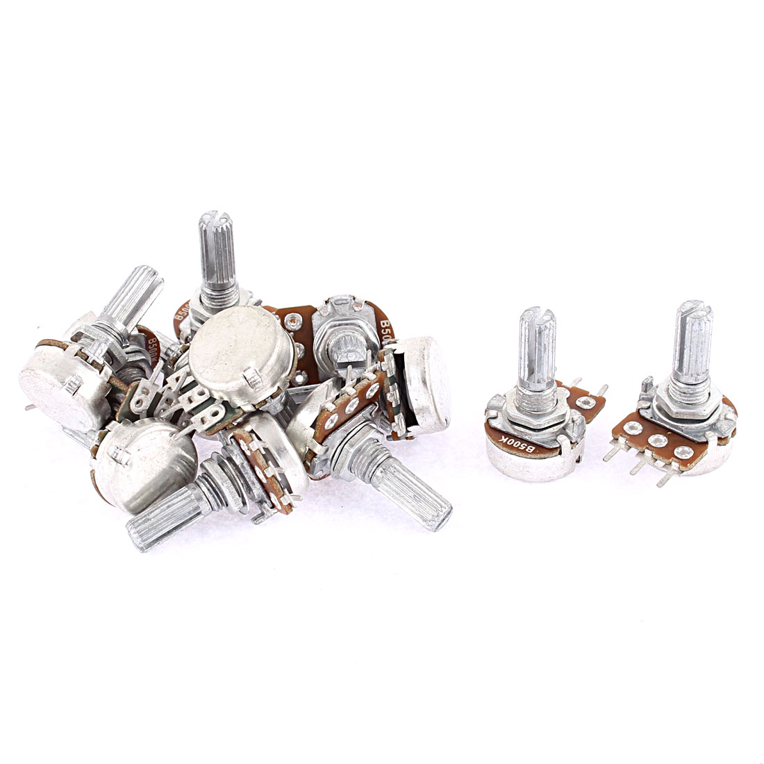 Guitar Pots Audio Tone Potentiometer Switch B500k Replacement 12pcs