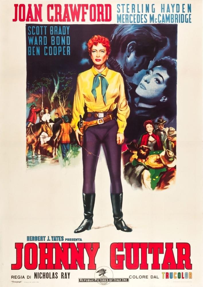 Movie poster masterprint (24 x 36) at walmart.com. Johnny Guitar Joan Crawford On Italian Poster Art 1954 ...