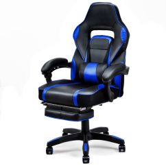 Office Chair Ottoman Eddie Bauer High Gymax Home Racing Style Executive Back Gaming W Walmart Com