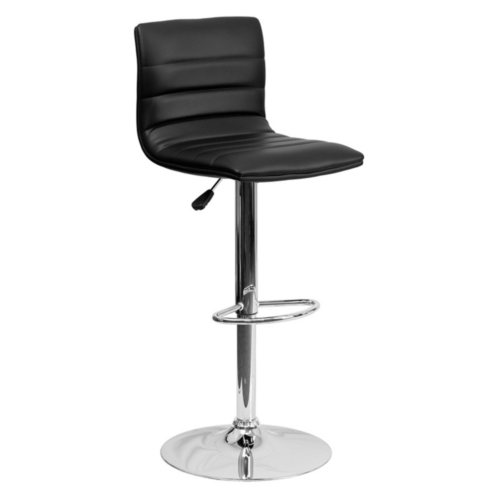 bar stool chairs black stretch chair covers for sale flash furniture contemporary vinyl adjustable height barstool with chrome base multiple colors walmart com