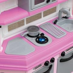 American Plastic Toys Custom Kitchen Countertop Shelf Deluxe With 22 Accessories Walmart Com