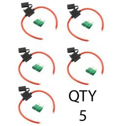 5 true spec ofc 10 awg gauge atc inline fuse holder fuseholder cover 5 fuses 10 amp  [ 1800 x 1800 Pixel ]