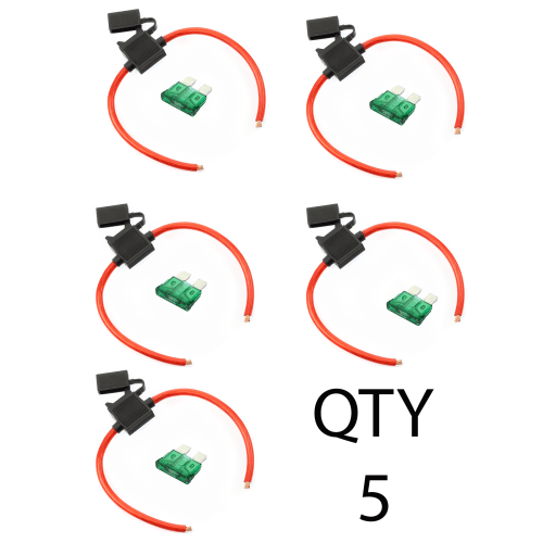 small resolution of  5 true spec ofc 10 awg gauge atc inline fuse holder fuseholder cover 5 fuses 10 amp