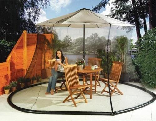 umbrella mosquito net canopy patio table set screen house large premium netting