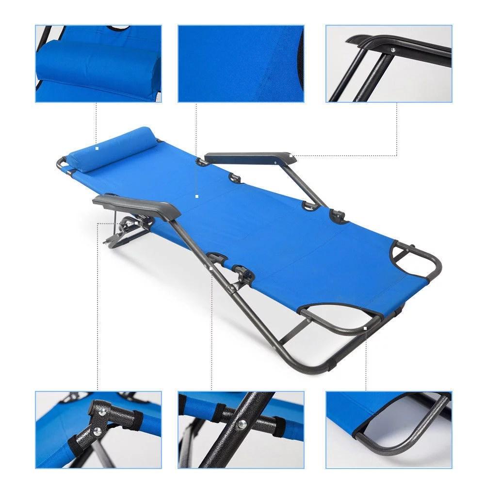 UBesGoo Folding Chaise Lounge Chair Patio Outdoor Pool