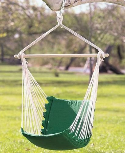 hanging swing hammock chair outdoor patio porch garden chair sling green