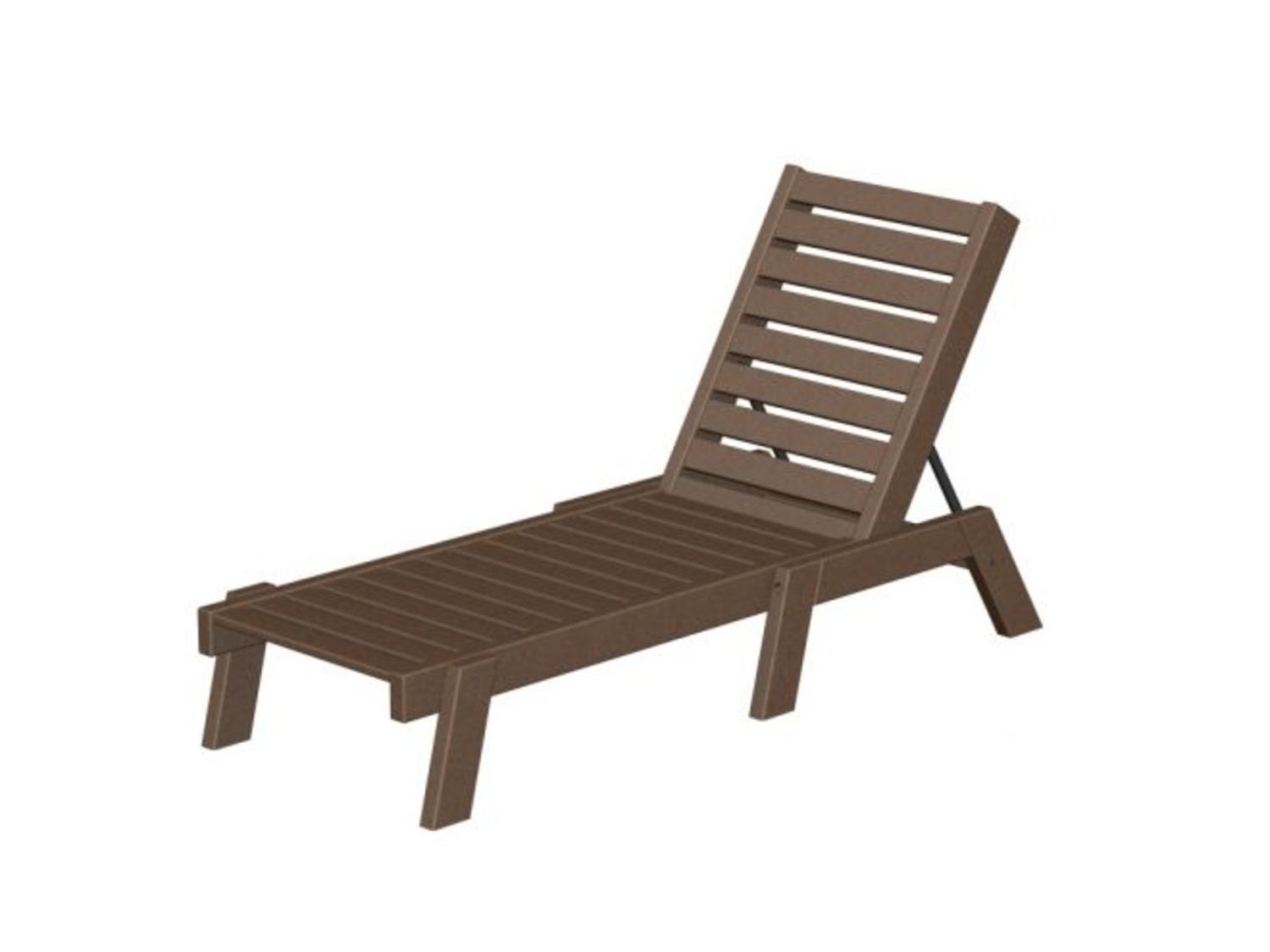 Recycled Oceanic Outdoor Armless Chaise Lounge Chair