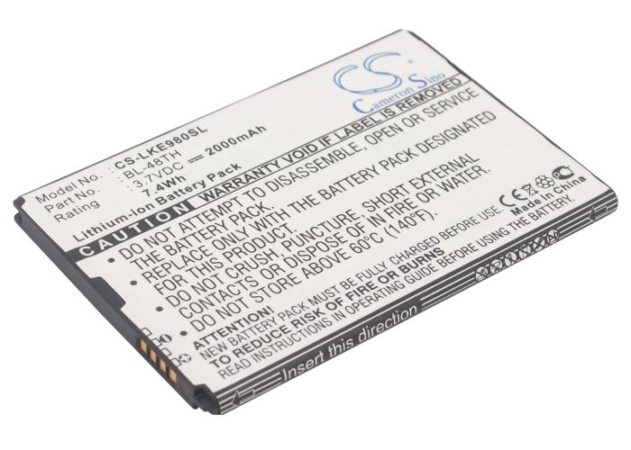 2000mAh BL-48TH Battery AT&T LG Optimus G Pro, E940, E977
