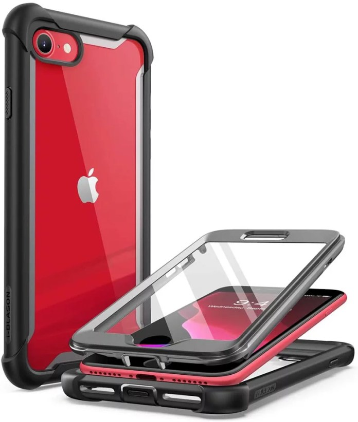 I Blason Ares Clear Series Designed For Iphone Se 2020 Case Iphone 7 Case Iphone 8 Case Built In Screen Protector Full Body Rugged Clear Bumper Case For Iphone Se 2020 Iphone 8 Iphone 7 Black