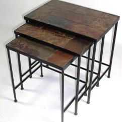 Slate Sofa Table Big Lots Rustic Set Rectangular Teak And By
