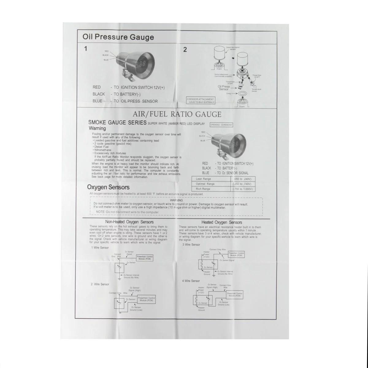 hight resolution of 12v 37mm car led oil press pressure gauge meter pointer sensor digital car oil press gauge smoked lens universal vehicle auto suv van truck us walmart