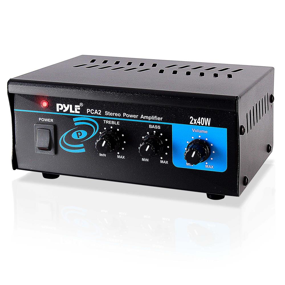 hight resolution of pyle pca2 stereo power amplifier compact audio amp with rca speaker terminals 2 x 40 watt walmart com