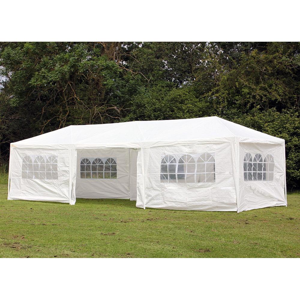 medium resolution of palm springs 10 x 30 party tent wedding canopy gazebo pavilion w side walls walmart com