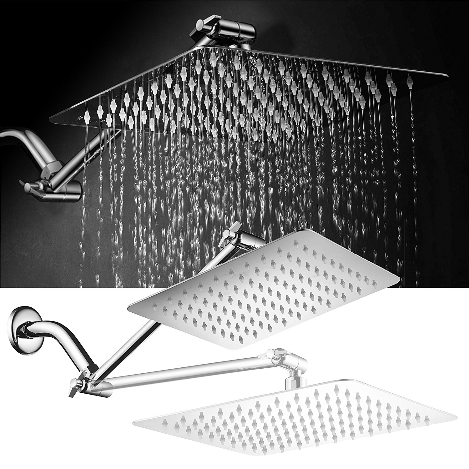 Hotelspa Giant 10 Inch Stainless Steel Rainfall Square
