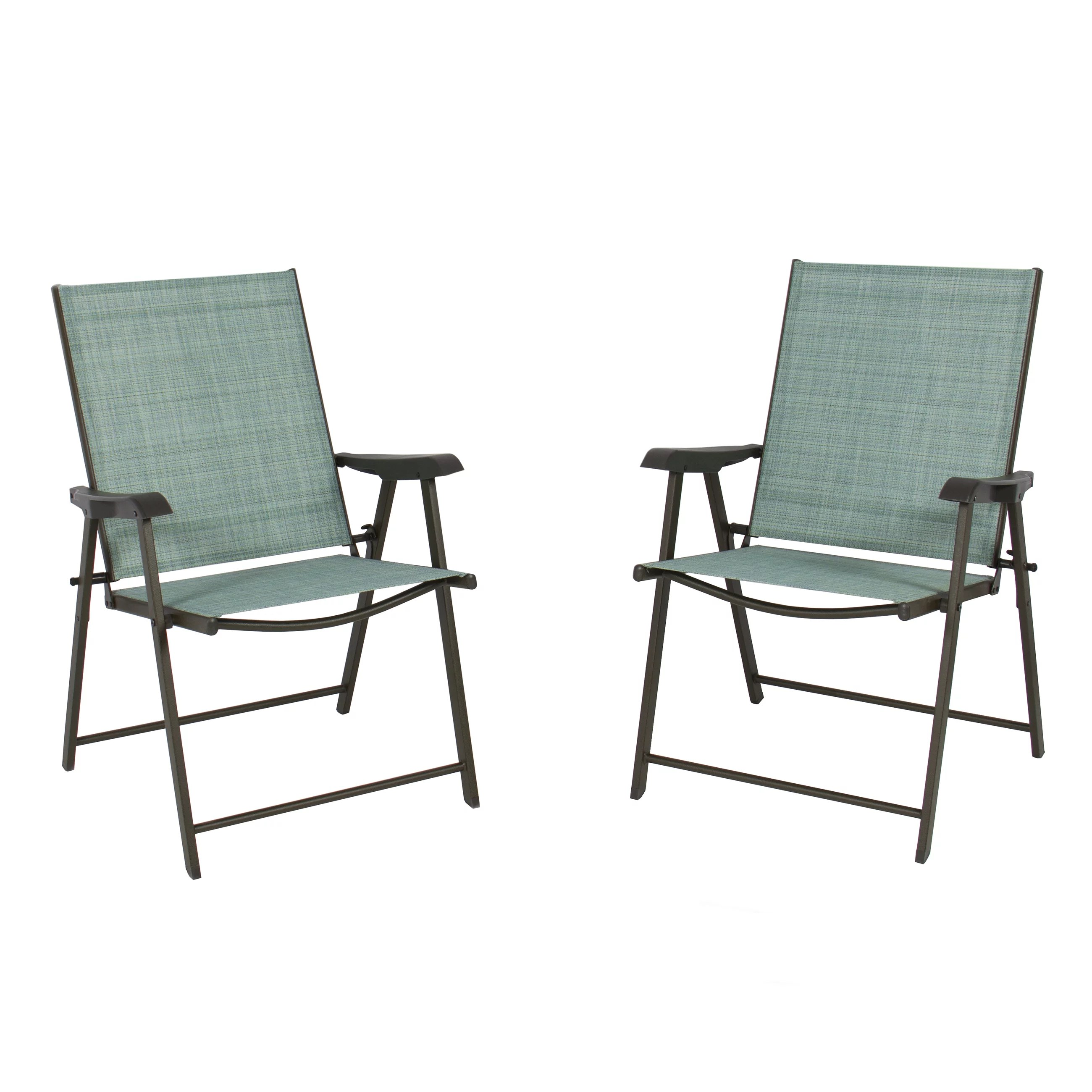Foldable Patio Chairs Best Choice Products Set Of 2 Outdoor Folding Bistro Patio Chairs W Space Saving Design Green