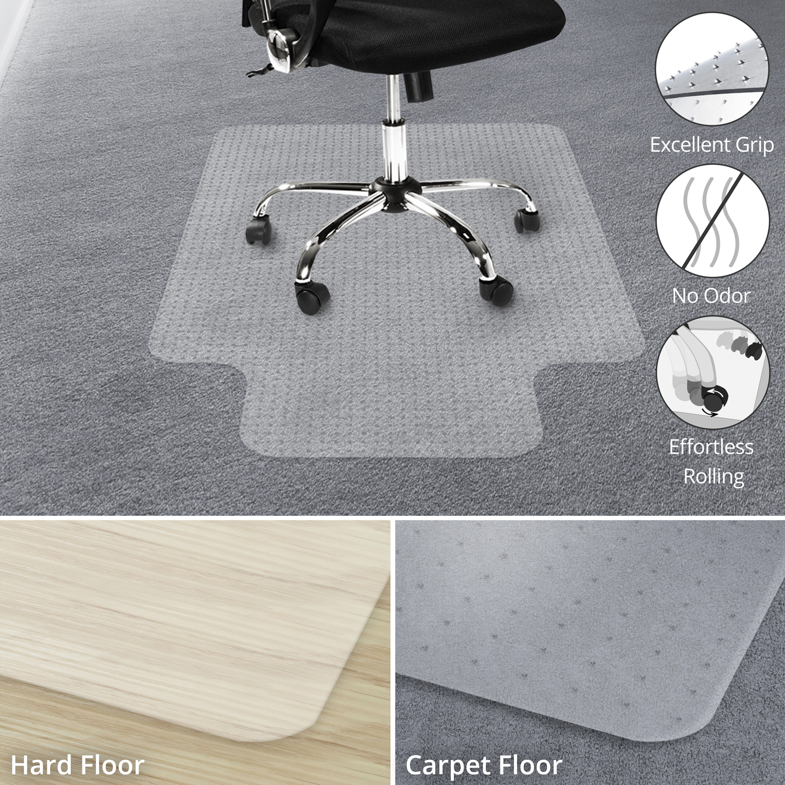 Office Chair Carpet Protector Office Marshal Chair Mat For Carpet Floors 100 Transparent Polycarbonate Hardwood Floor Protector 36