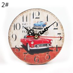 Living Room Wall Clocks Small Rooms With Area Rugs Fancyy Creative Retro Clock Round Bedroom 2