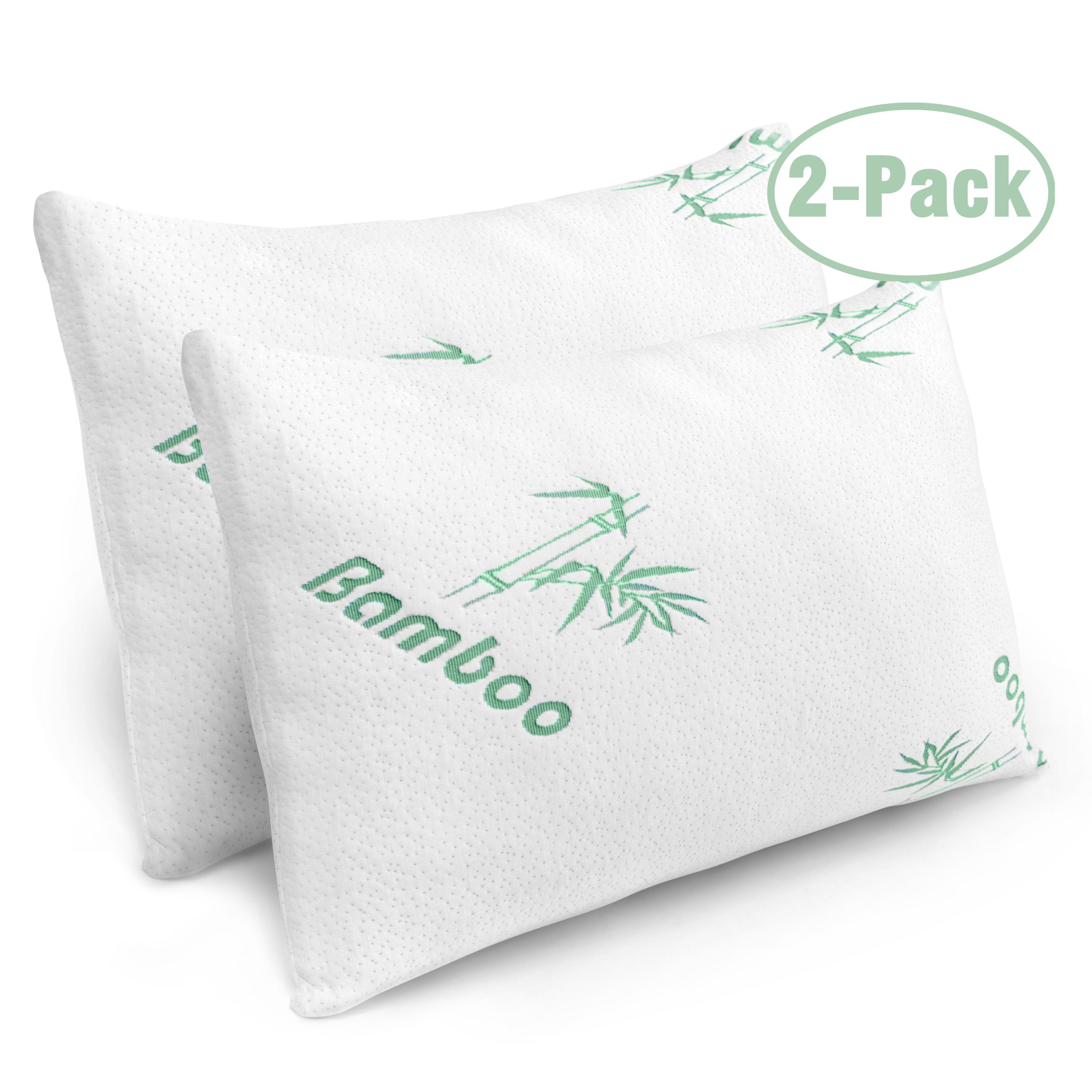 2 pack plixio shredded memory foam pillow with cooling hypoallergenic cover queen size bed pillows for sleeping walmart com