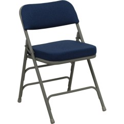 Cloth Padded Folding Chairs For Outside Use Hercules Hinged Fabric Chair 4 Pack Navy Blue Walmart Com