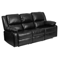 Black Reclining Sofa With Console How High Should End Tables Be Leather Lovely