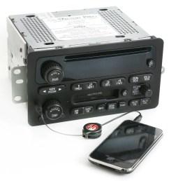 2000 05 chevy monte carlo impala radio am fm cd cassette w aux input 09394159 refurbished [ 2872 x 3012 Pixel ]