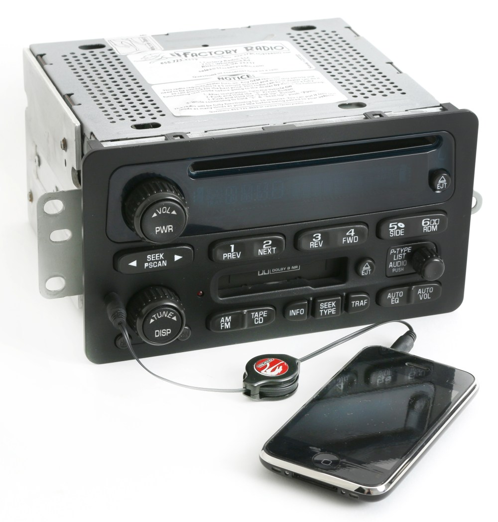 medium resolution of 2000 05 chevy monte carlo impala radio am fm cd cassette w aux input 09394159 refurbished