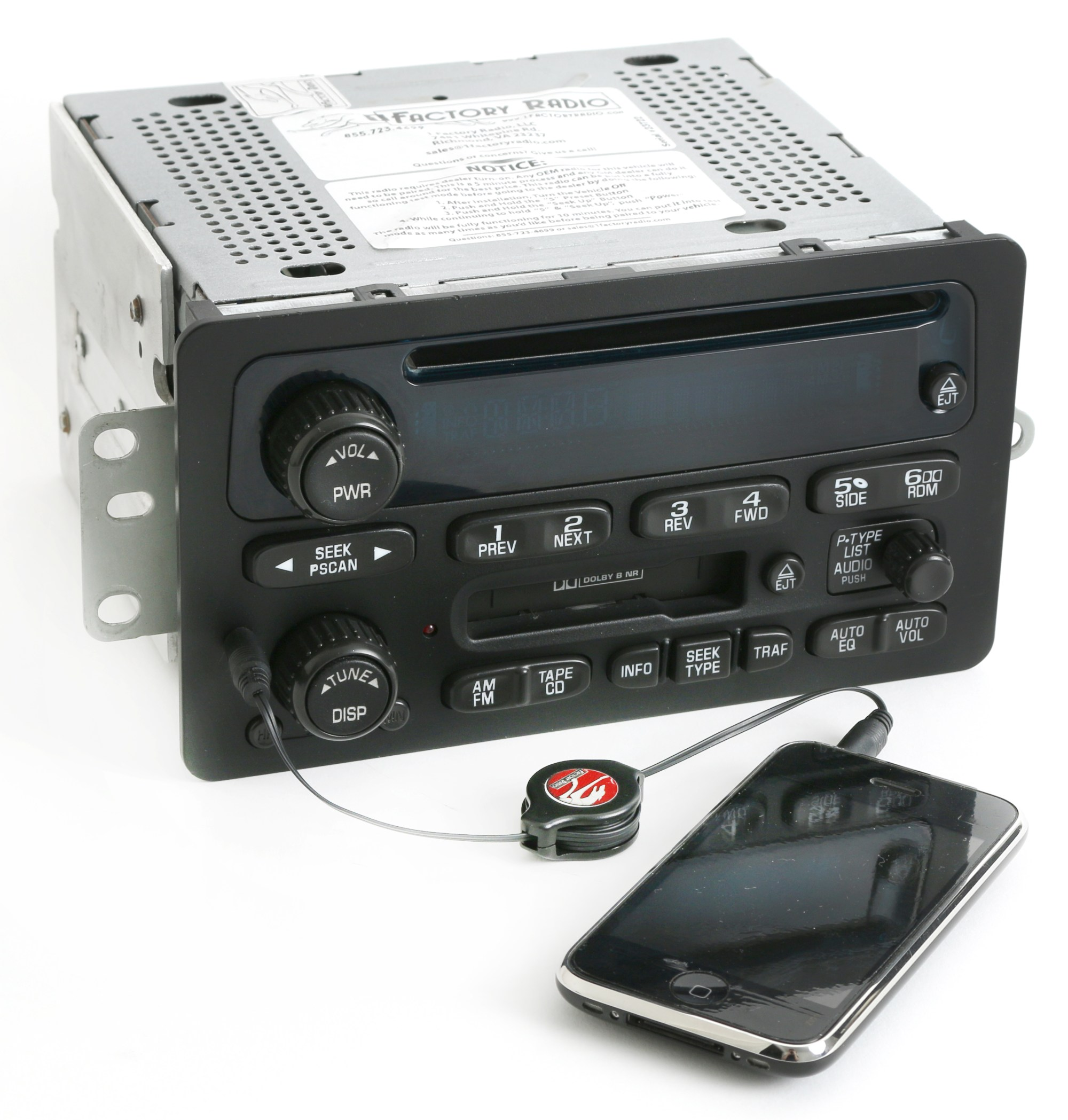 hight resolution of 2000 05 chevy monte carlo impala radio am fm cd cassette w aux input 09394159 refurbished walmart com