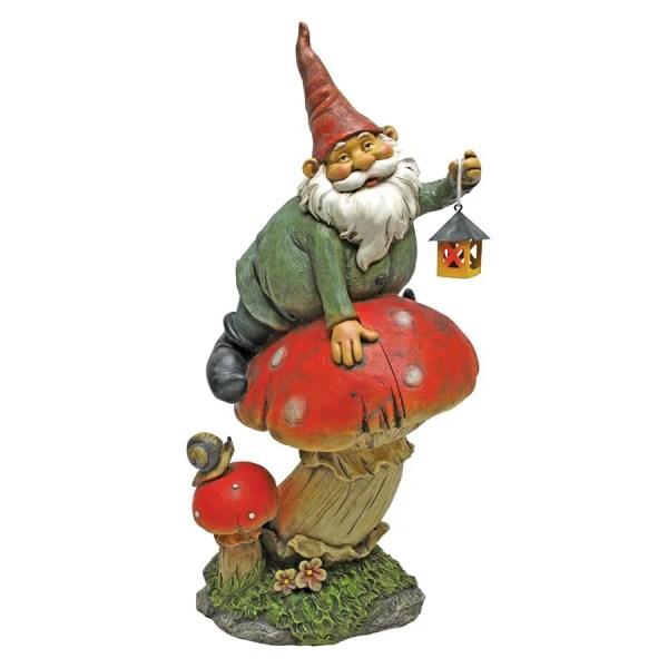Design Toscano Tesla With Lamp Garden Gnome Statue