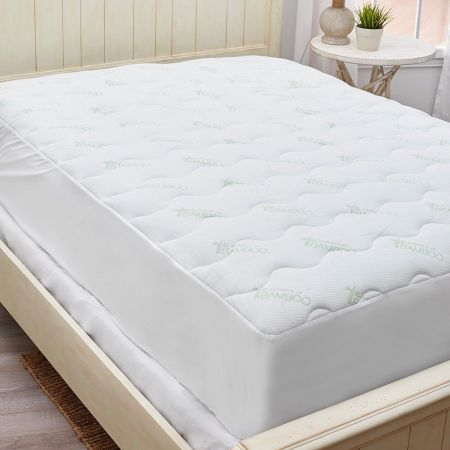 Empire Home Waterproof Bamboo Thick Soft Mattress Cover Topper Cool Breathable Twin Size