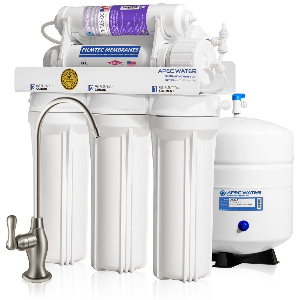 medium resolution of apec ultimate ro ph90 top tier supreme certified alkaline mineral ph high output 90 gpd 6 stage ultra safe reverse osmosis drinking water filter system