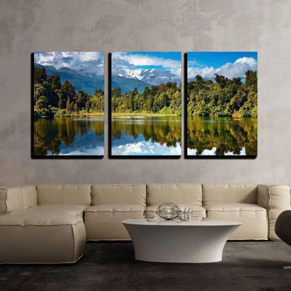 Wall26 3 Piece Canvas Wall Art Beautiful Lake