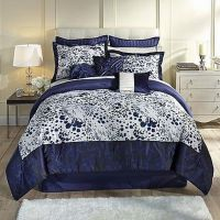 Kardashian Collection Indigo Blue Full Bed Comforter Set