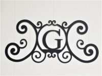 Scrolled Iron Metal Letter G Monogram Personalized Initial ...