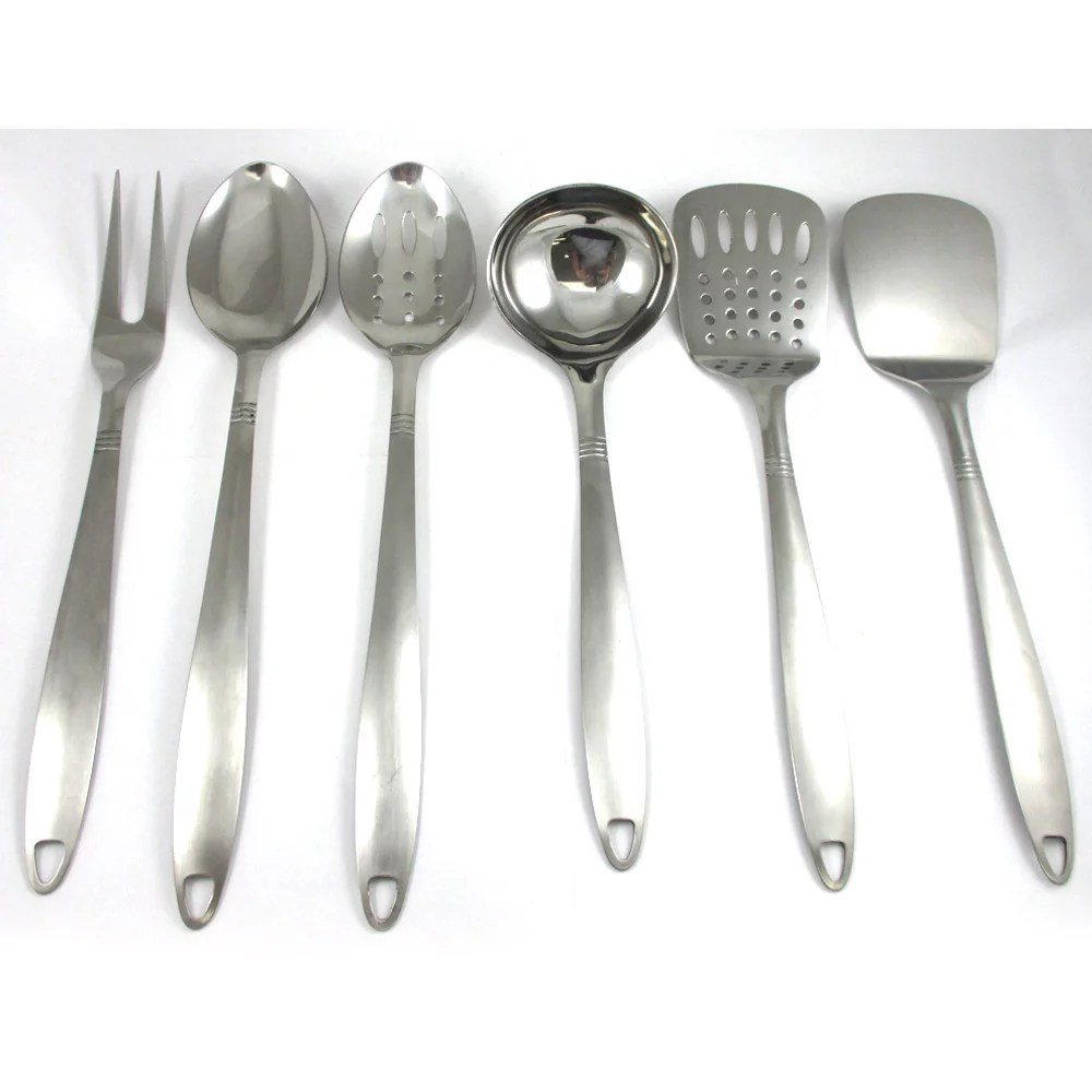 kitchen spoon pub table 6 stainless steel cooking utensil set serving tools server spatula walmart com