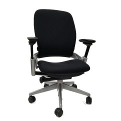 Steelcase Leap Chair Leopard Print Office V2 In Black Fabric And Titanium Base Executive Walmart Com