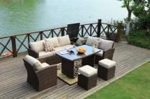 mulan brown 7 piece outdoor patio