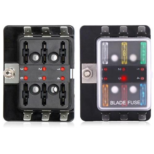 small resolution of tsv led illuminated automotive blade fuse holder box 6circuit fuse block walmart com
