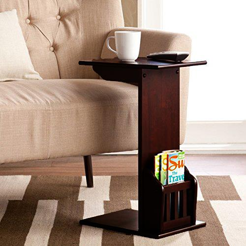 Ktaxon Bamboo Wood Snack Table Sofa Side Console Laptop