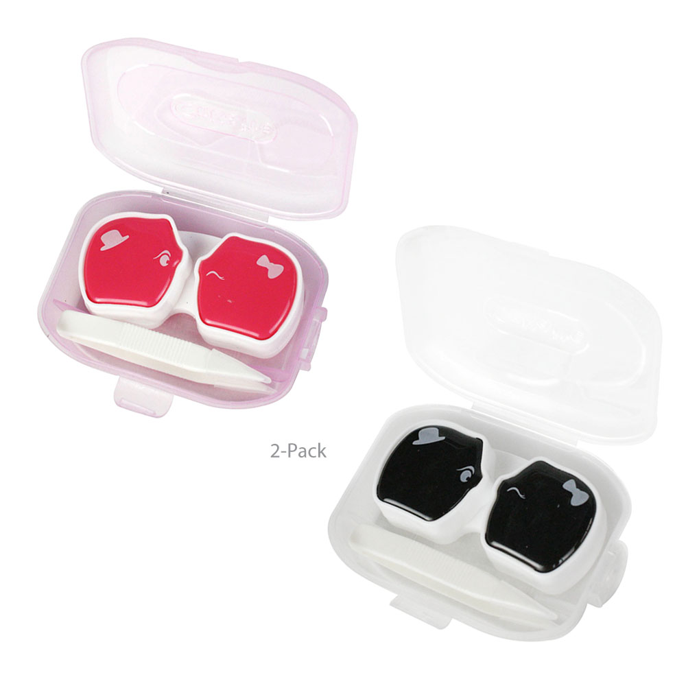 Small Compact His and Hers Piggy Contact Lens Case Bride ...