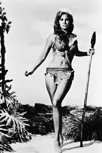 raquel welch in one million years b c busty 24x36 poster holding spear