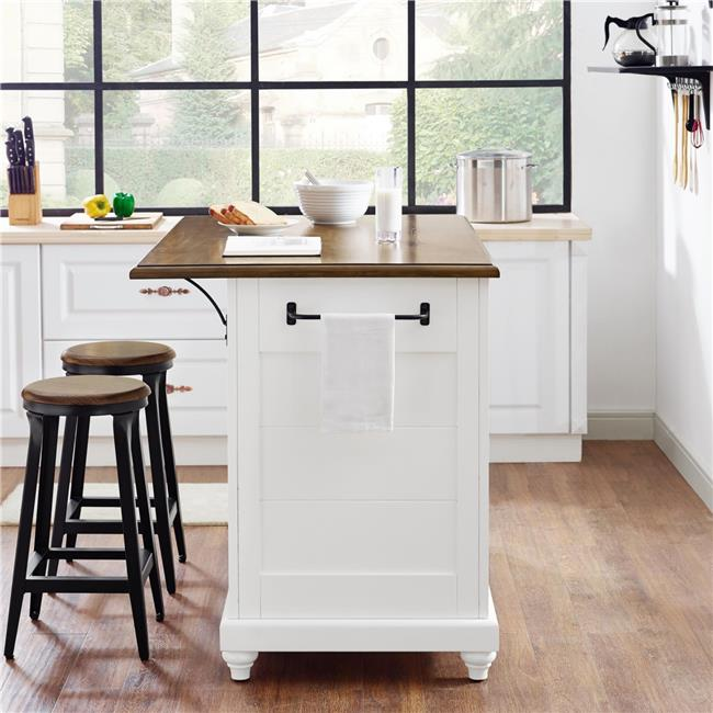 kitchen island stool remodel sacramento dorel living kelsey with 2 stools white walmart com