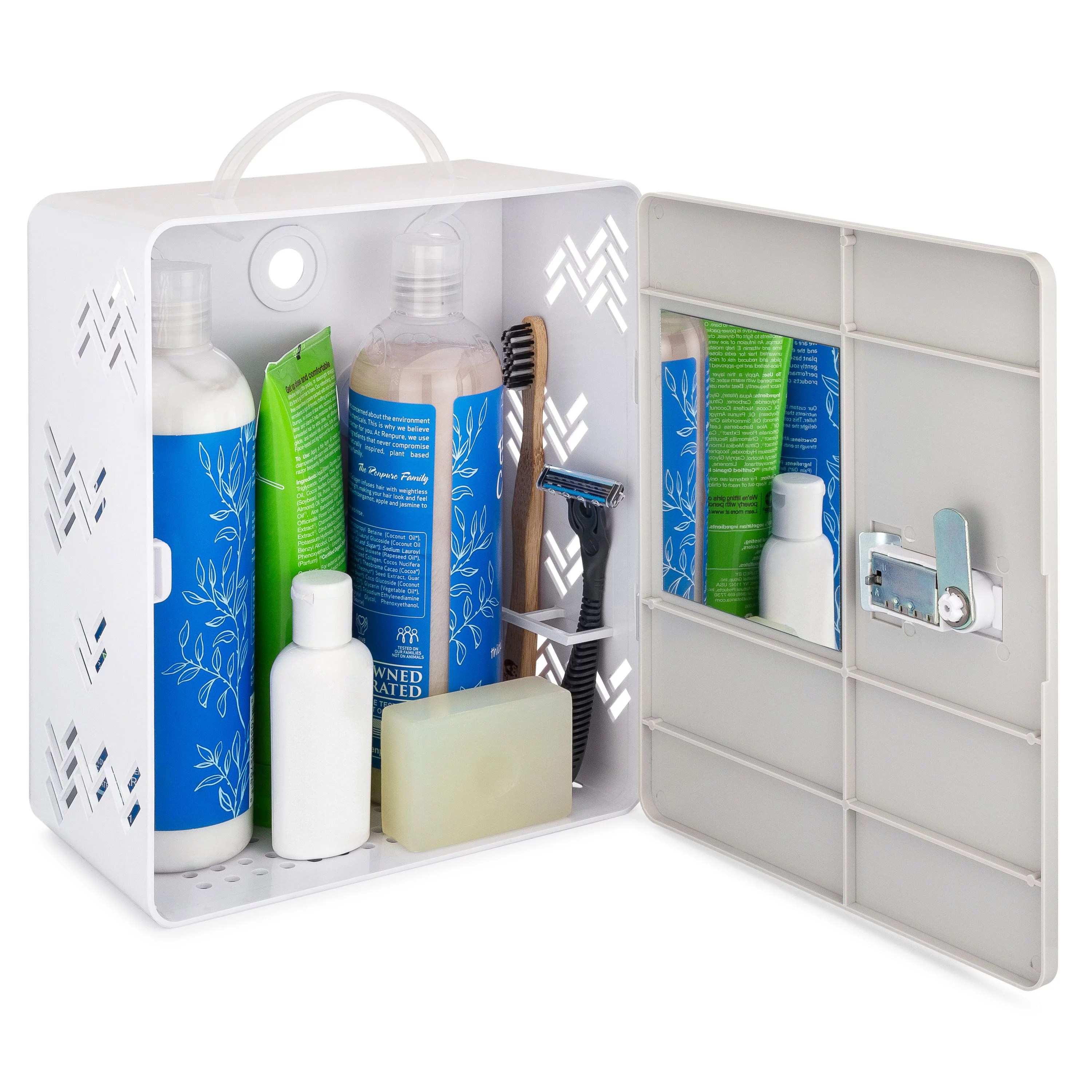 shower caddy locker shower caddy tote with suction cups lock mirror best for co living and sharing a bathroom in dorms and college with